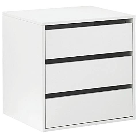 Commode intérieur armoire 3tiroirs autoportant cm L58Blanc