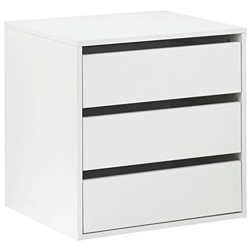 Cassettiera interior armario 3 cajones autosustentable cm L58 Color Blanco
