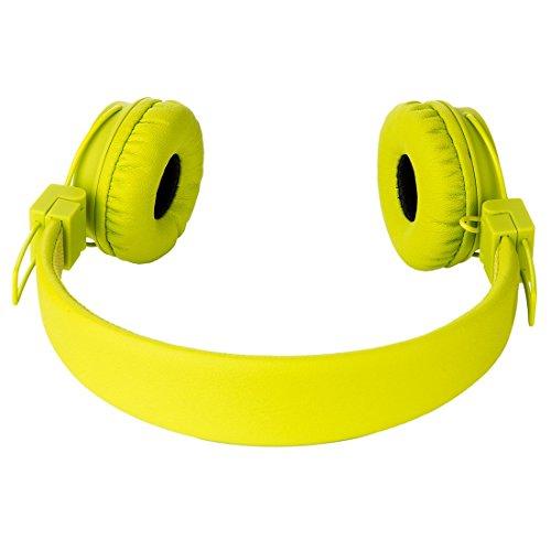 Termichy Wired Kinder Kopfhörer Faltbarer On-Ear Hifi Stereo Headset mit Inline-Control Abnehmbare 3,5mm Klinkenstecker Audio Kabel (Green) - 4