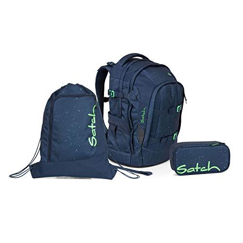 Satch Schulrucksack Set 3tlg. (SchlamperBox und Turnbeutel) (Pack Space Race)