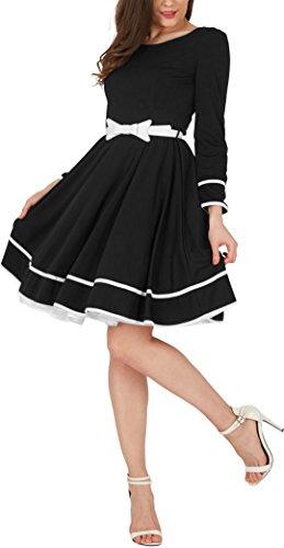 BlackButterfly 'Grace' Vestido Vintage Clarity (Negro, ES 36 - XS)