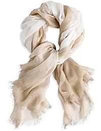 Prettystern - 180cm effet plus facile gradient de batik Femmes écharpe de fibre naturelle 100% Modal