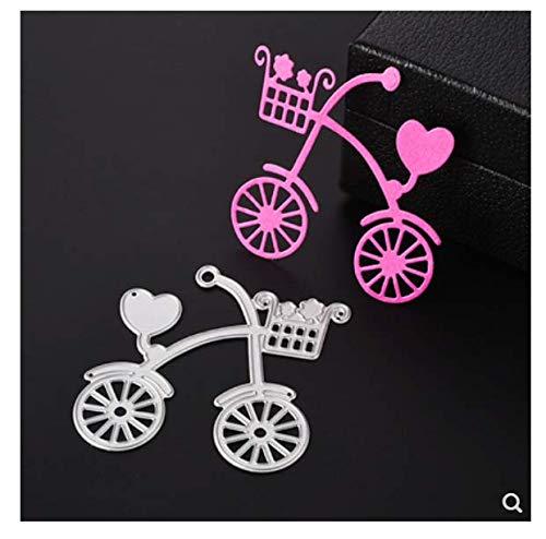 ZGWS Nette Kinder Fahrrad Dekoration Papier Handwerk Messerform Vorlage DIY Hand Geprägte Kohlenstoffstahl Messerform