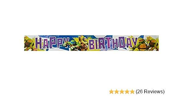 Teenage Mutant Ninja Turtles Happy Birthday Foil Banner Amscan Amazoncouk Toys Games