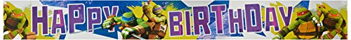 Amscan Geburtstags-Banner Teenage Mutant Ninja Turtles, Folie