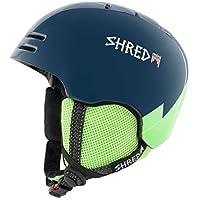 Shred Niños Slam Gorra de base Wee Blue/Green Casco de esquí, snowboard, Otoño-invierno, infantil, color azul, tamaño medium