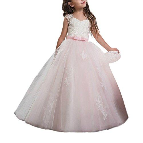 en Hülsen Puffy Schatz Prinzessin Formales Staffelung Festzug Kleider (3) (Erste Kommunion Kleider Puffy)