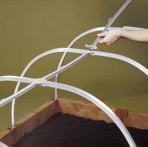 Alugestänge für Baustein-Frühbeet oder System-Hochbeet Gr. 2 Inhalt/Pkg.: 4 Alu-Dachbügel, 3 Giebelv