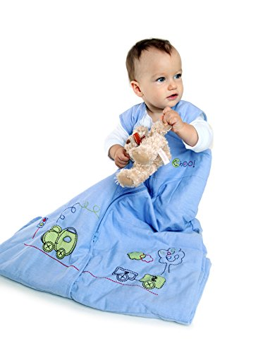 Sacco a pelo invernale 2.5 tog per bambini 110cm/12-36 mesi - treno