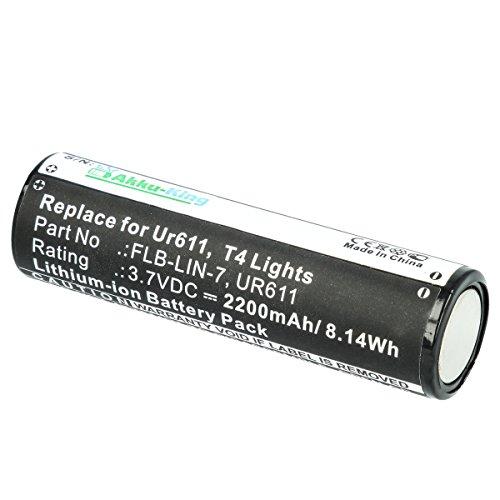 Akku-King Batterie pour Inova T4, UR611 - remplace FLB-LIN-7, UR611 - Li-Ion 2200mAh