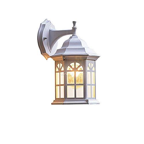 XiaoZou Wandleuchte Einzelne Lampe Außenwandleuchte Transparentes Glas Wasserdicht Antik Einfacher Terrassenzaun Villa Wandleuchte Innen- Und Außen Dekorative Beleuchtung -