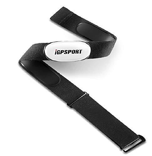 iGPSPORT Cardiofrequenzimetri HR40 per Tracker di Fitness, Supporto Bluetooth e Ant+ Sensore di frequenza cardiaca Fascia Cardio