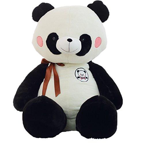Good Night Enfants Charmant Dessin animé Panda avec Nœud-papillon Farci Animal Jouet mou, 23,6''