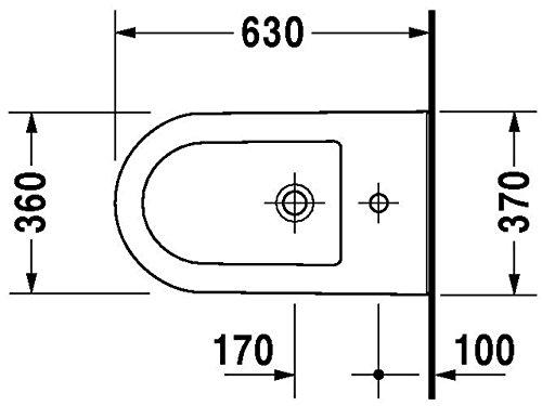 Duravit Stand-Bidet Darling New 630 mm, 1 Hahnloch, weiss WonderGliss, 22511000001