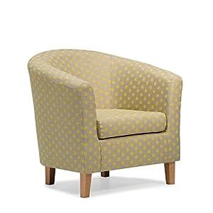 41efSXujw1L. SS300  - Cape Tub Chair, Fabric, Lemon, 75 x 79 x 69 cm