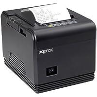 Approx APPPOS80AM - Impresora de tickets térmica (200 mm/s, papel 80 mm, corte automático y manual, usb/rs232/rj11), negro