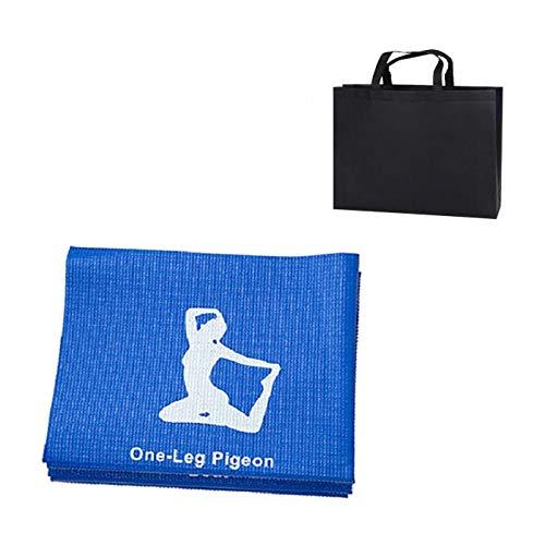 PVC-Faltbarer Yoga-Matte Übung Pad Thick Anti-Rutsch-Folding Gym Fitness-Matte Pilates Zubehör Bodenspiel-Matten (Color : B)