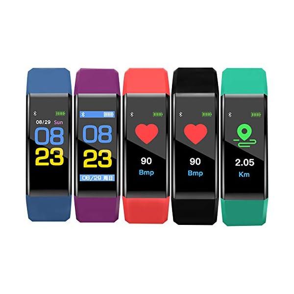 MENGZHEN 1 UNID Y3 Monitor de Actividad del Ritmo cardíaco Pantalla táctil Usable Podómetro Bluetooth Pulsera Inteligente con Monitor de sueño 9