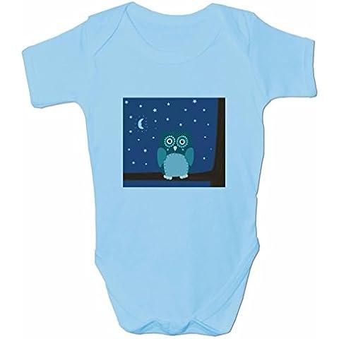 Divertido mono para bebés. Ropa para bebés niño y niña. Bodie Night Owl