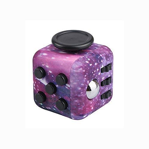 FIDGETARIAN Cubo Anti-estres Púrpura Galáctico