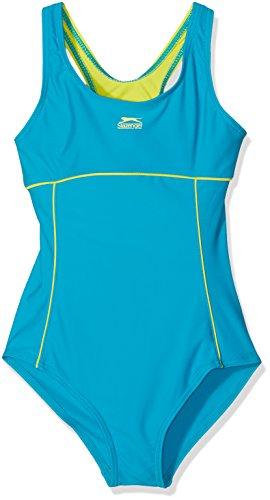 11-12 Jahre Slazenger Mädchen Badeanzug in der Farbe : Teal/Lime (Haut Bikini Zweite)