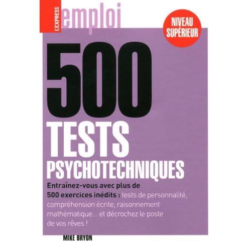 500 TESTS PSYCHOTECHNIQUES