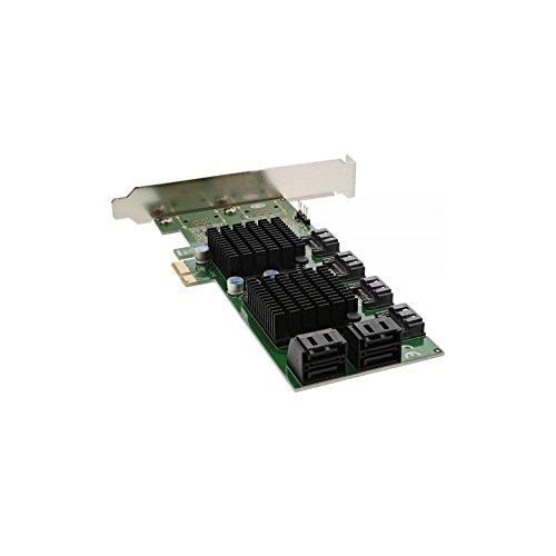 InLine 19055Controller SATA, 8SATA 6Gb/s, PCIe-Karte 2, Slotblech Low-Profile, Schwarz