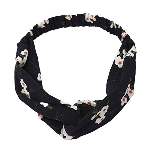 COZOCO 2019 Einfaches und nützliches Stirnband Boho Floral Twist Knoten Stirnband Elastic Wrap Turban Haarband Yoga Sport Damen Mehrfarbig M