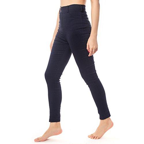 DODOING Hosen Frauen Push Up Hosen Hüfte Bodybuilding Leggings Elastische Taille Fitness Yogahose Laufhose Jogginghose Blau