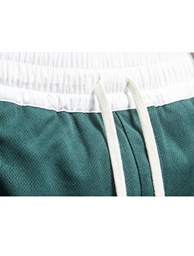 Miagolio Uomo Pantaloncini Di Tuta Estivi Elastico Vita Sportivi Casuale Bianco