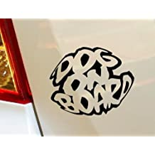 Perro de mascota perrito coche Drift Bumper ventana Funny vinilo Van portátil Corazón Decor Home Live Kids Arte de la pared adhesivo pegatinas moto
