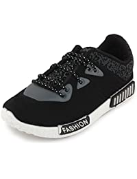 Scantia Men/Boys Casual Trendy Sporty Shoes with Stylish look New Latest Fashionable Casual shoes comfortable to Wear with Attractive look Shoes for Party or Carry in Daily Life-Black and Grey _(Hurry Bumper Valentine Offer on Scantia Collection)