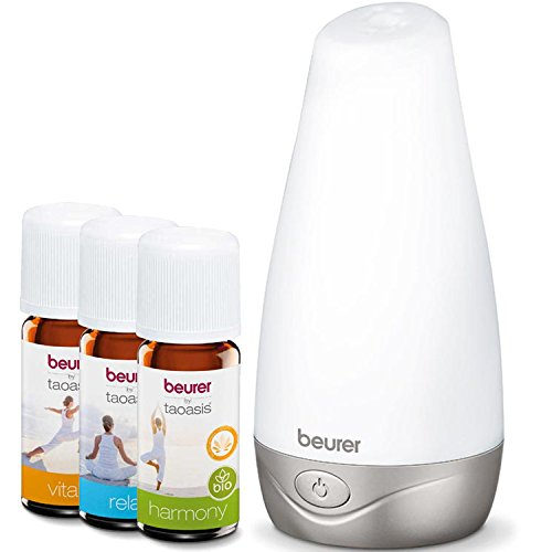 Beurer LA30 Aroma Diffuser and Pack of 3 Beurer Aromaoils, Harmony, Vitality and Relax