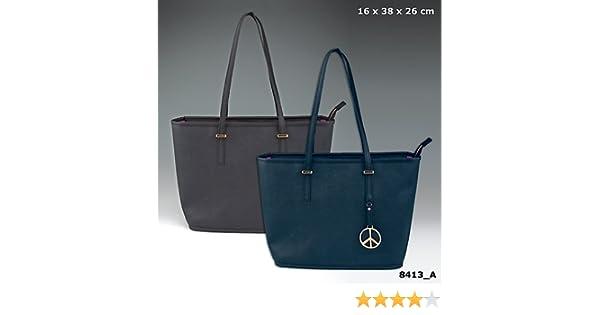 47b557f71225c TOPModel Edle Handtasche schwarz Lederoptik Tragetasche Einkaufstasche  Tasche Bag Shopper NEU  Amazon.de  Sport   Freizeit
