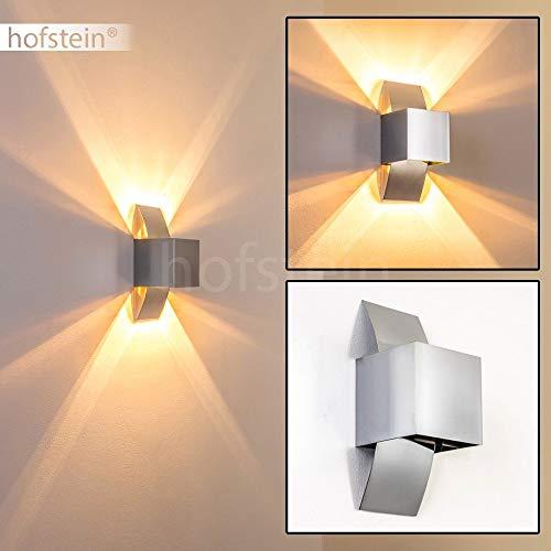 Aluminium Wand-Lampe Balti im futuristischen Design - Alu Wand Leuchte in Chrom mit G9-Fassung - up- and down-Lichteffekte an der Wand - geeignet für LED-Leuchtmittel - Wandspot Flur - Wohnzimmer
