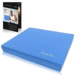 SportyAnis® Balance-Pad inkl. Übungsheft – Innovatives Balancekissen zur Stärkung der Tiefenmuskulatur und Steigerung von Balance, Stabilität und Gleichgewicht (Blau)