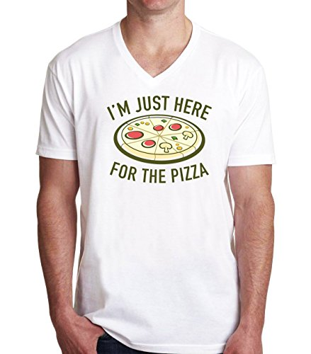 im-just-here-for-the-pizza-mens-vneck-t-shirt-xx-large