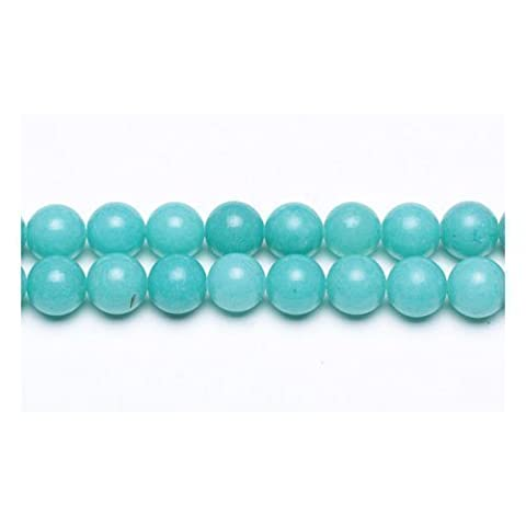 Strand Of 62+ Turquoise Malaysian Jade 6mm Plain Round Beads