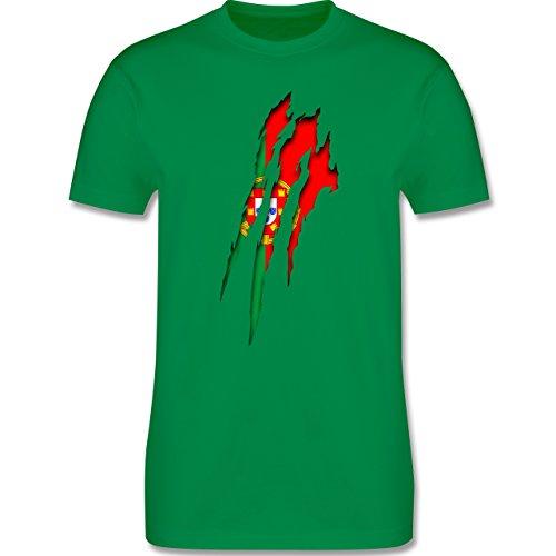 Länder - Portugal Krallenspuren - Herren Premium T-Shirt Grün