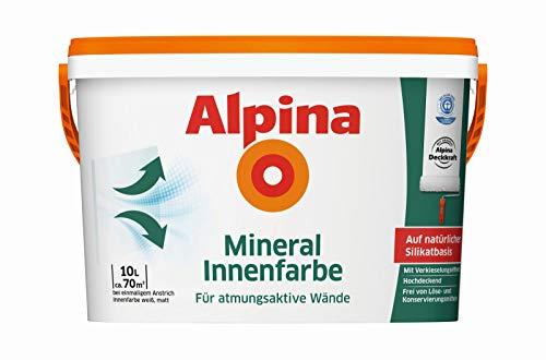 ALPINA Innenfarbe Mineral Innenfarbe 10 l auf natürlicher Silikatbasis