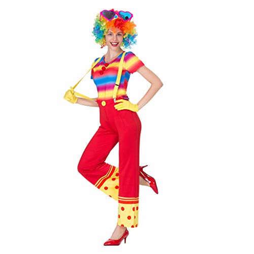 Jester Frauen Kostüm - Baoblaze Lustige Frauen Clown Kostüm Dame Zirkus Joker Jester Fancy Dress Outfit - M