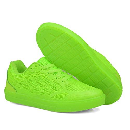 DoGeek - Led Chaussure Lumière Lumineuse - Fille Garçon - 7 Couleurs Lumière Vert