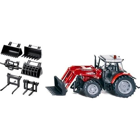 siku Farmer Traktor mit Frontlader und Zubehörset 7070 (3693)