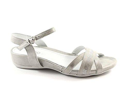 IGI&CO 38501 acciaio scarpe donna sandali camoscio pelle strass Grigio