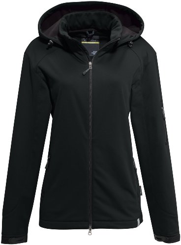 HAKRO Damen Softshell-Jacke Alberta - 248 - schwarz - Größe: M