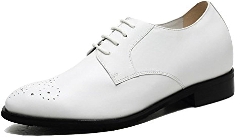 NIUMJ Hombres Spring Casual Brock Moda Exterior Transpirable Cómodo Grabado Zapatos De Cuero