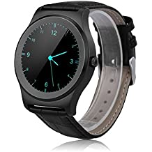 NeeCoo V3 - Smartwatch Pulsera Inteligente para Móvil Android y IOS (Bluetooth 4.0, Ritmo Cardíaco, Recordatorio de Llamada / SMS, Recordatorio Sedentaria, Captura Remota, Encontrar Teléfono, Reconocimiento de Voz) (Negro)