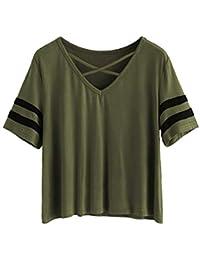 FreshTrend Plain Marron Cotton V-Neck Slim Fit Tshirt for Women
