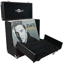 Caja de almacenamiento de vinilo, estilo retro músico de 12 pulgadas, con solapa frontal