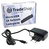 Trade-Shop 2A Hochleistungs Schnell-Ladegerät Netzteil Ladekabel Micro-USB für Microsoft Lumia 1330 430 Dual SIM 435 532 532 Dual SIM 535 535 Dual SIM 540 Dual SIM 550 640 640 Dual SIM 640 LTE 640 XL
